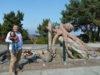 Sculpture octopus near Feiro Marine Life Center