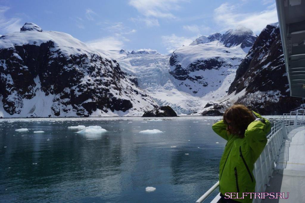 Полукругосветка: День 16, Круиз из Seward к китам и ледникам - Анкоридж.