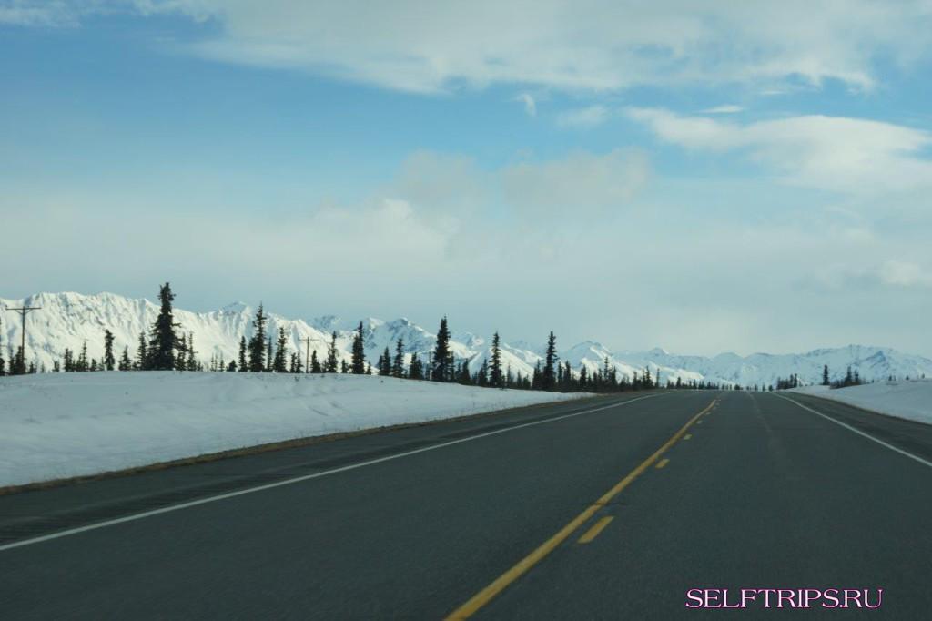 Полукругосветка: День 20, путь в Анкоридж, последние виды Аляски.