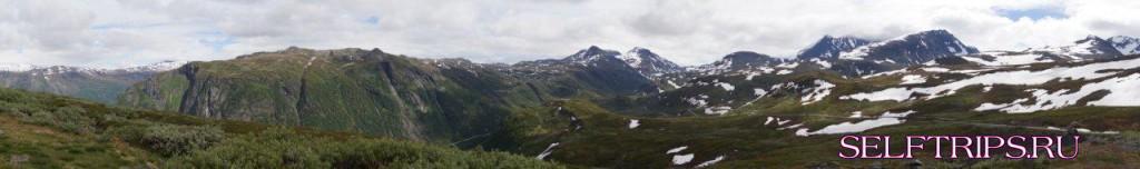 Dalsoren camping - высокогорная дорогу Tindevegen - Gudvangen Camping.