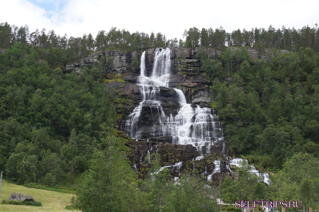 Gudvangen Camping – водопад Tvindefossen - Эйдфьорд – высокогорная ферма Kjeåsen – водопад Vøringfossen - водопад Tveitafossen - Kinsarvik camping.