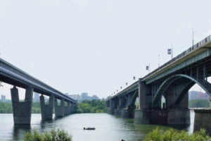 Novosibirsk metro bridge