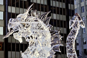 Ice sculptures in Boston