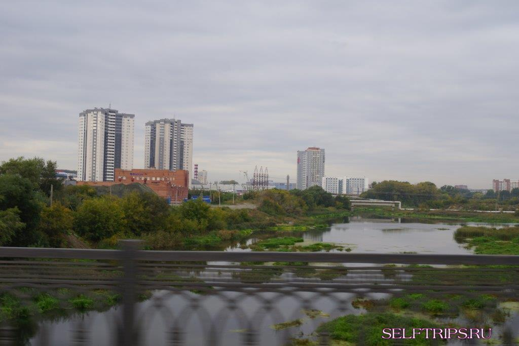 Chelyabinsk bridge on the river Mias