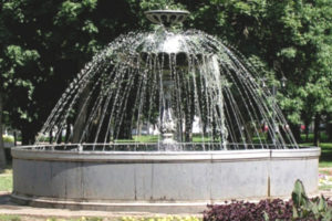 Fountain in Park Lipki