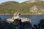 Island Zhumbaktas (Sphinx). Side. Kazakhstan.